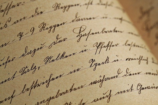 psané rukou
