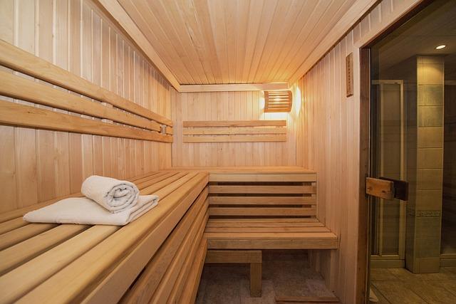 osušky v sauně